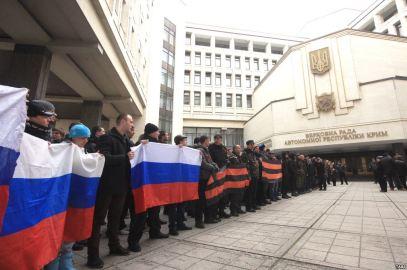 Проросійські мітинги в Криму