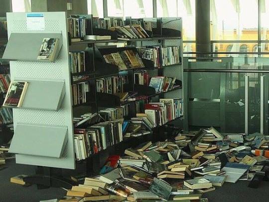 Українська бібліотека в Москві після обшуку